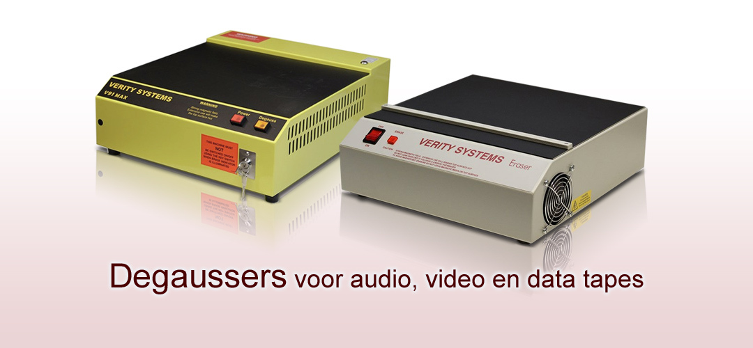 Degaussers voor audio video data tapes